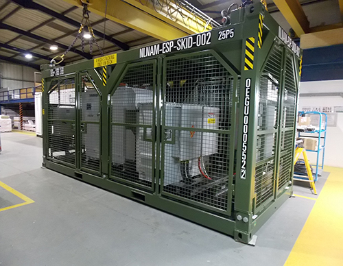 Variable Speed Drive skid for onshore drilling operations