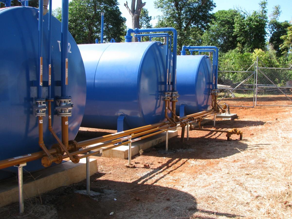 PAWA diesel storage tanks