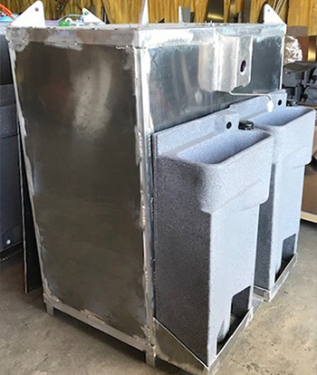 Hot water hand wash unit